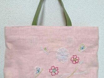 和装 花刺繍バックの画像