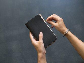 革の財布L ダークグレーの画像