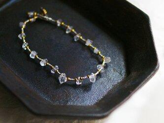 【再販・受注制作】ハーキマーダイヤモンド×カレンシルバー・ブレスレット b0712の画像
