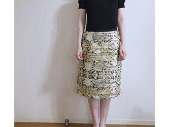 フランス製生地のAラインスカートの画像