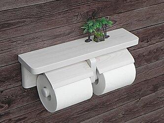 木製トイレットペーパーホルダー Ver.13(ホワイトシースルー)の画像