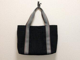 裂き織り 極シンプルなトートバッグの画像