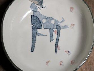 丸皿(散りと)の画像
