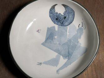 丸皿(月人間)の画像