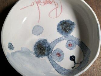 丸皿(パンダ)の画像