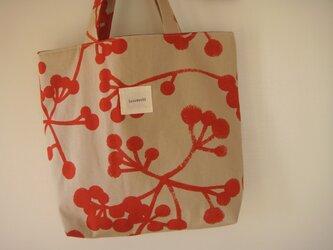 赤い実のバッグの画像