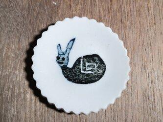 豆皿5~5.5cm(うさカタツムリ)の画像