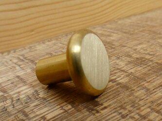 真鍮製 たいらな つまみ 取っ手 B  /  シャビー 、レトロ、アンティーク、ビンテージ、DIYの画像