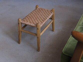 くすのきの座編みスツールの画像