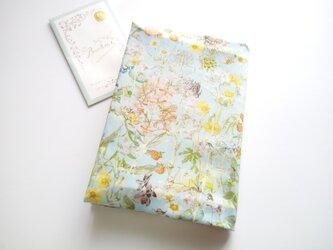 リバティ<Wild Flowers>ワイルド・フラワーズ (ブルー)(文庫本用)野花図鑑の画像