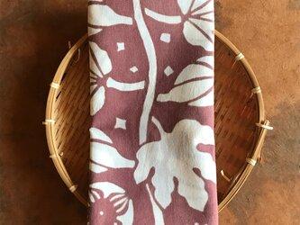 柿渋・植物染料染め手ぬぐい いちじくの画像