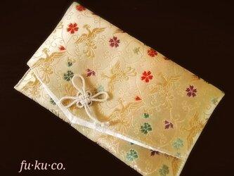 金襴 fu·ku·co. 御朱印帳ケース Mサイズ 袱紗兼用 鳳凰柄の画像