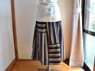 着物リメイク 木綿ギャザースカート J-23の画像