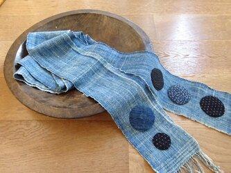 木綿を遊ぶロングスカーフ(弐)の画像