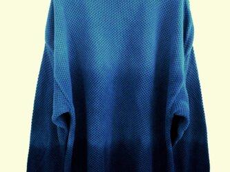 ◆天然灰汁発酵建て 本藍染◆ グラデーション コットンセーター☆の画像