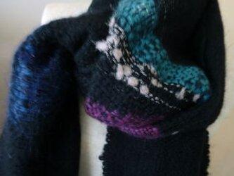 《手織り》軽いウールのマフラーの画像