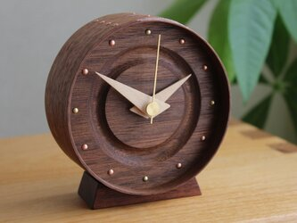 曲げ木の置き時計(ウォールナット)の画像