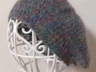 モヘアのベレー帽の画像