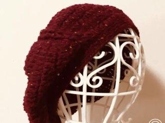 Sold out ‼️ベレー帽 (1点もの)の画像
