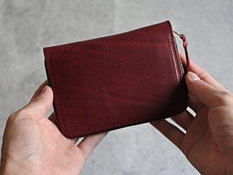 """ラウンドファスナー ミドル財布 """"DOUGLAS"""" ワインレッドの画像"""