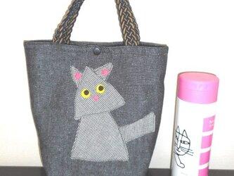 三角猫のミニトートの画像