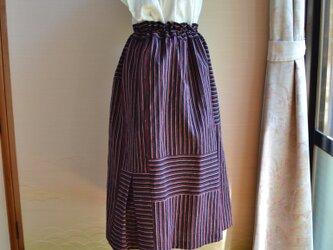 着物リメイク 木綿ギャザースカート J-25の画像