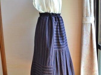 着物リメイク 木綿ギャザースカート J-26の画像