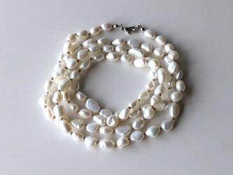 淡水パールのロングネックレス No.2 / バロック, 淡水真珠の画像