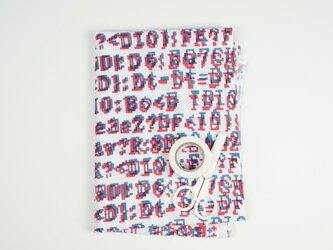 手ぬぐい【 bug 】赤×呉須色の画像
