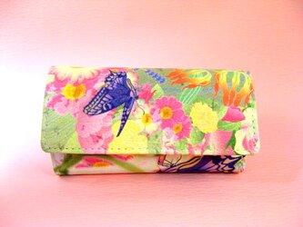 江戸美袋 花と揚羽蝶 キーケースの画像