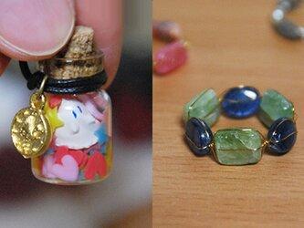 【S様専用】ボトルドゴーストペンダント&大地の欠片の指輪の画像