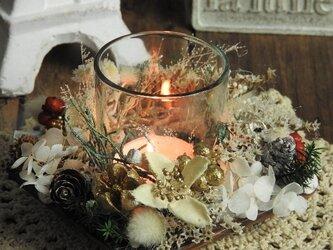 『雪のクリスマスキャンドル』◆HollyNightなアロマ&キャンドルホルダーの画像