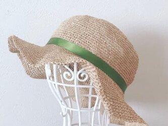若者リボンの麦わら帽子(送料無料‼️)の画像
