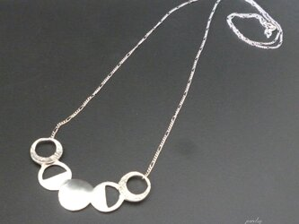MOON - silver long necklaceの画像
