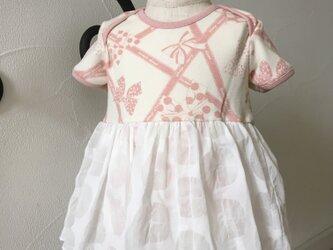 ふわふわスカート付きゆったりロンパースの画像