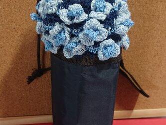 お花飾りのペットボトルカバーの画像