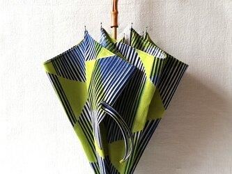 型染め 日傘「リボンストライプ」の画像