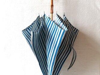 型染め 日傘「ストライプ」の画像