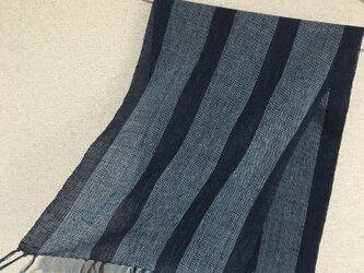 手織りストール A26の画像