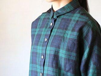 リネンドロップシャツ:BWの画像