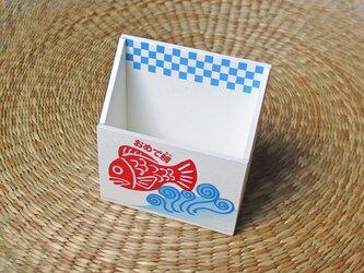 おめで鯛焼き 携帯ホルダー(ブルー)の画像