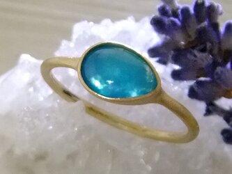 ジェムシリカ*K14lunapinkgold ringの画像