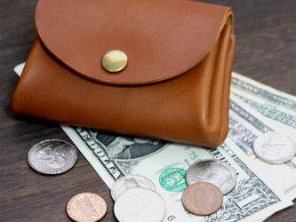 ちょっとしたお出かけに便利なコロコロ財布♪栃木レザー日本製 アコーディオン財布の画像