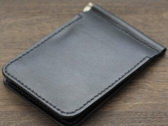 栃木レザー マネークリップ 財布 本革  手縫いハンドメイド 日本製 赤タグ付 ブラック モカ 黒 茶の画像
