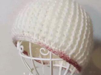 モヘアのニット帽の画像