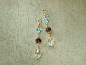 Transparent pieces earringsの画像