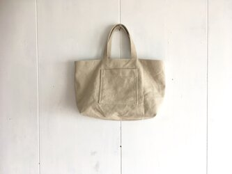 小さめのくったり鞄 生成りの画像