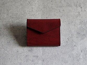 """コンパクト財布 """"DOUGLAS"""" ワインレッドの画像"""