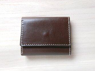 みつおり屋さん 三つ折り財布 #1 焦茶の画像