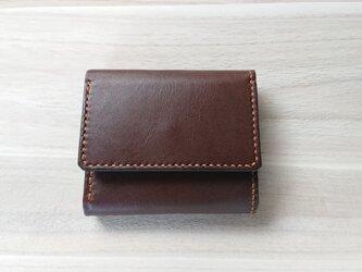 みつおり屋さん 三つ折り財布 #3 焦茶の画像